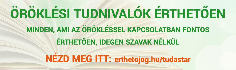 Öröklési tudnivalók érthetően banner